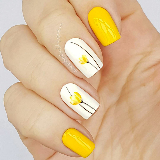 More Colorful Ideas Of Easy Flower Nails Design Picture 6