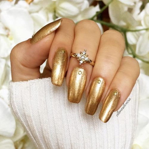 Easy Gold Nail Designs Picture 2