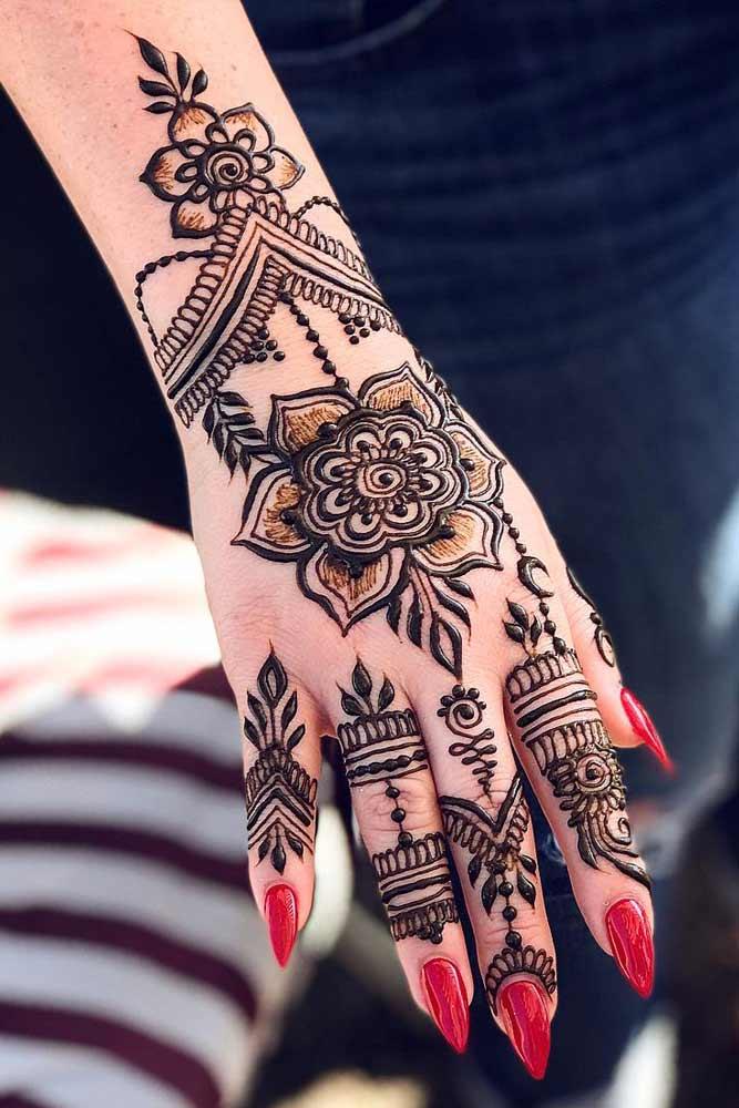 Floral Henna Tattoo Design