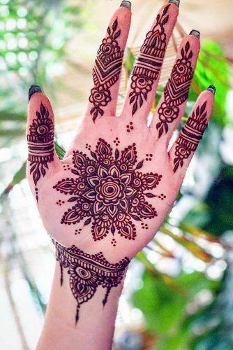 Henna Tattoo Design For Palm #palmtattoo