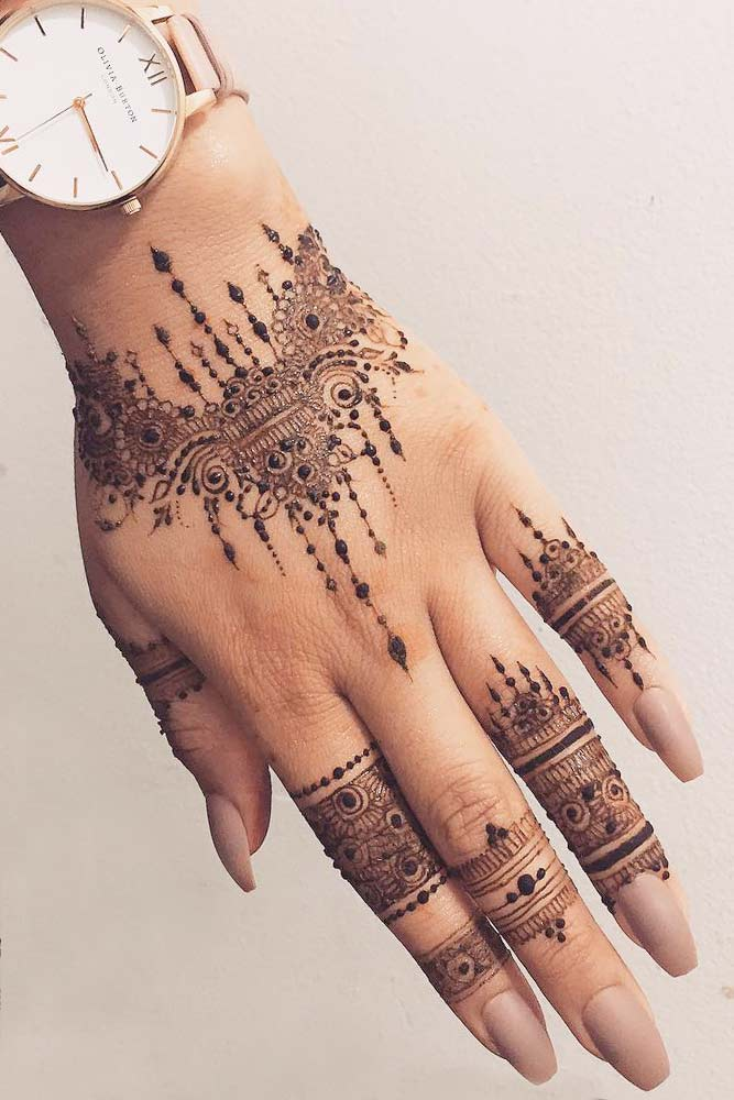 Arm Tattoo Design Made With Henna #armtattoo