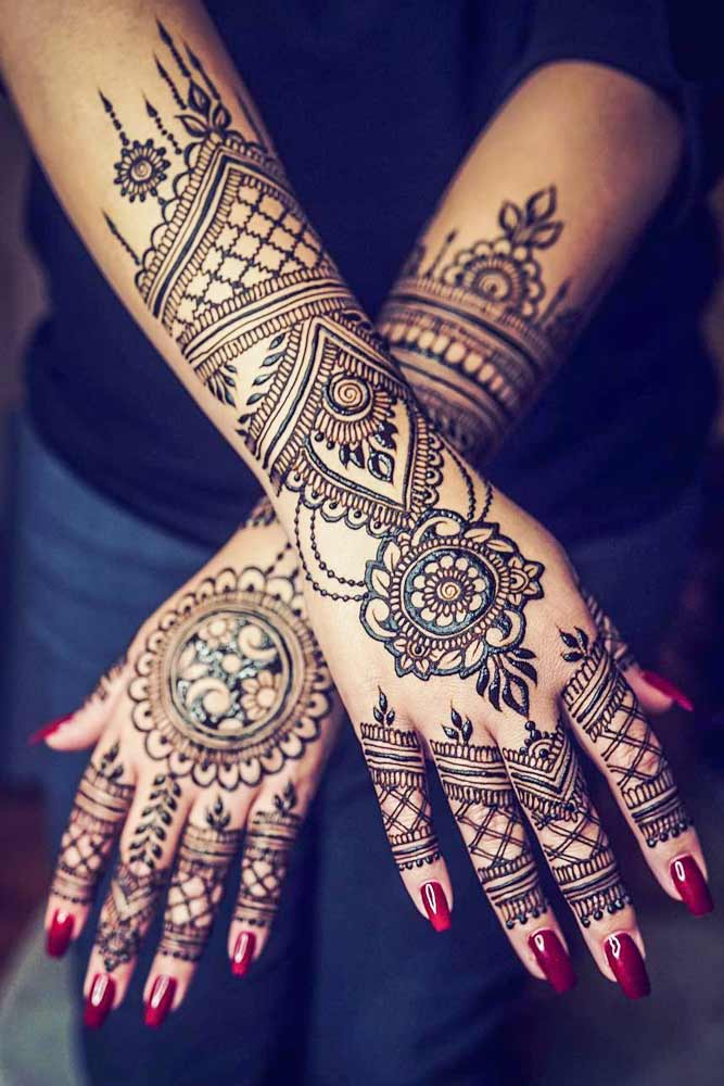 Arm Henna Tattoo Idea #hennatattoo