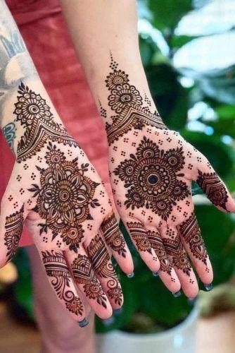 Palm Tattoo Idea Made With Henna