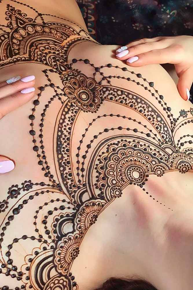 Henna Tattoo Designs For Chest Picture 5