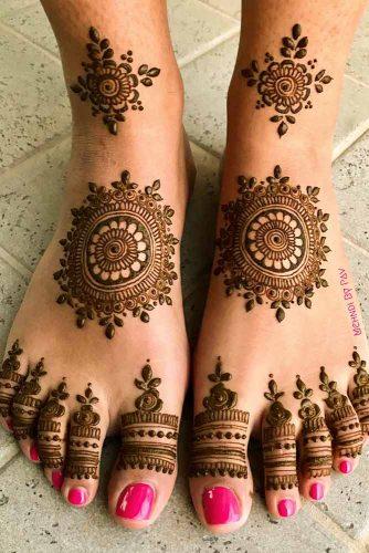Henna Tattoo Patterns For Feet #feettattoo