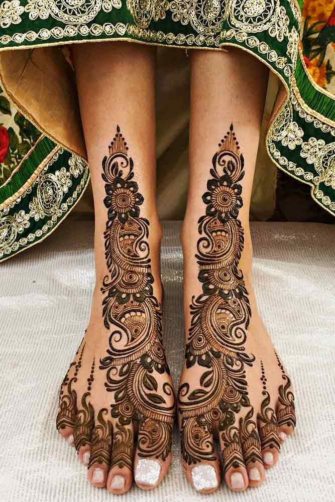 Amazing Henna Tattoo Design For Feet #feethennatattoo