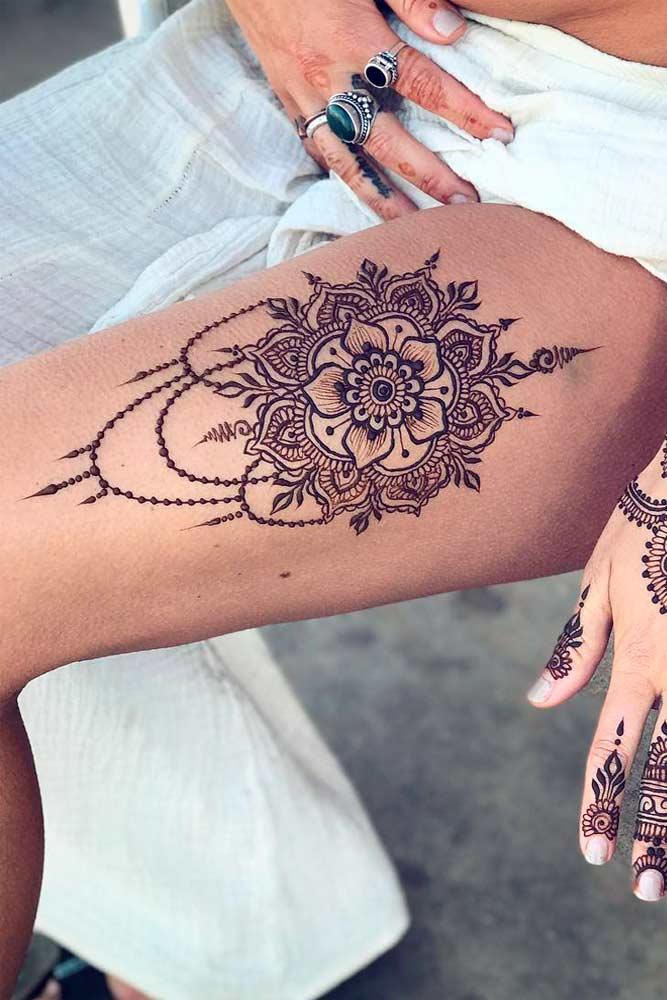 Legs Henna Tattoo Designs Picture 1