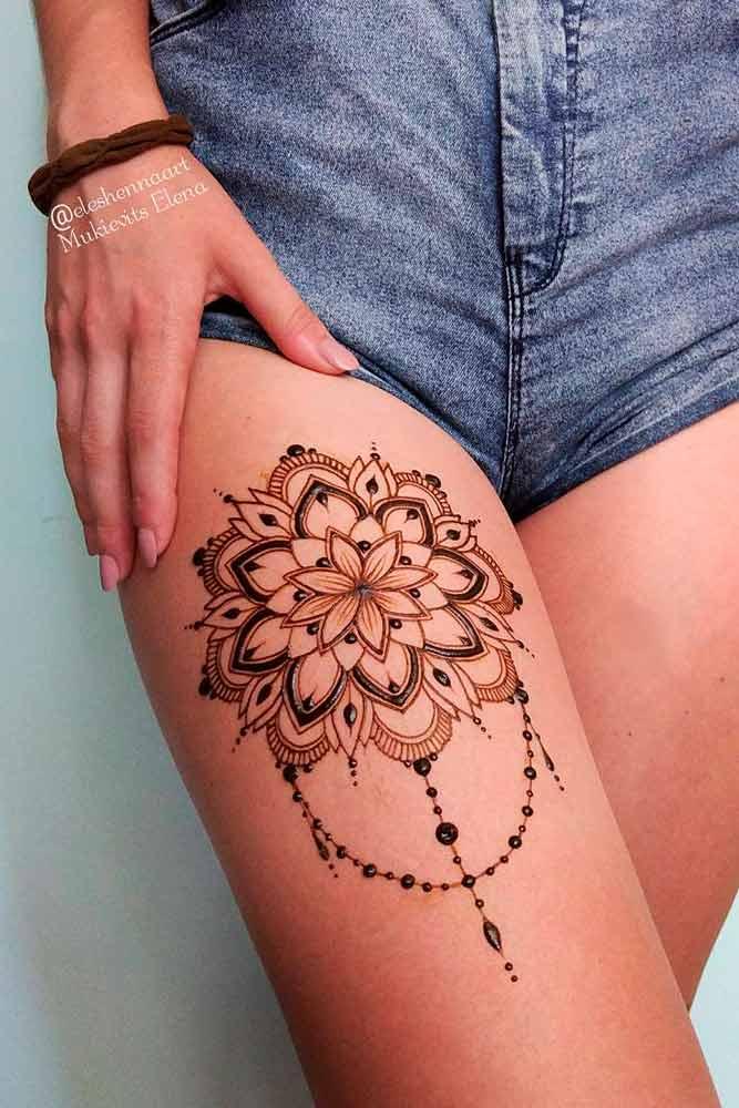 Legs Henna Tattoo Designs Picture 2