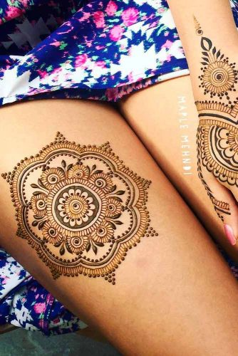 Legs Henna Tattoo Designs Picture 4