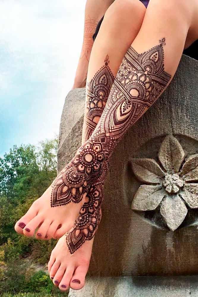 Legs Henna Tattoo Designs Picture 5