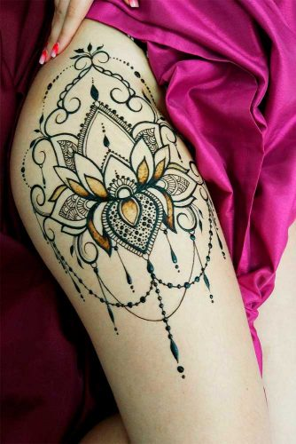 Lower body Henna Tattoo Picture 2