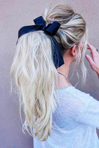 Ponytails Ideas For Long Hair Picture 3