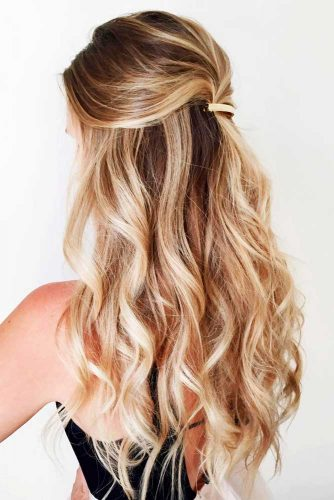Romantic Half Up Half Down Hairstyles Picture 1
