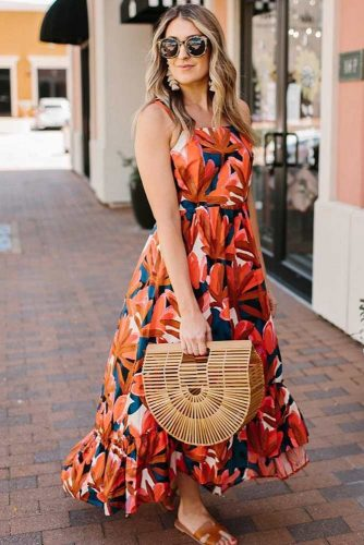 Summer Print Maxi Dress #summerdressdesign