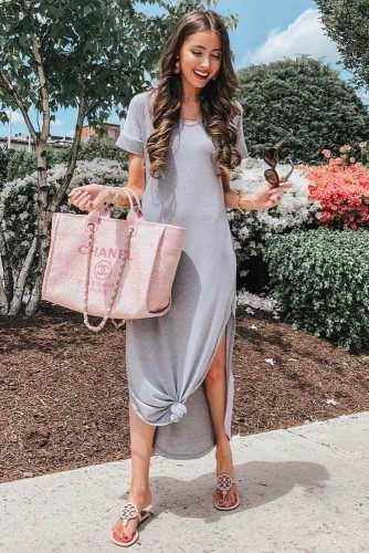 T-shirt Slip Dress With Cut #tshirtdress