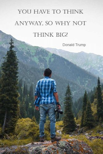 You have to think anyway, so why not think big? Donald Trump #motivationalquotesaboutlife #motivationquotessuccessful