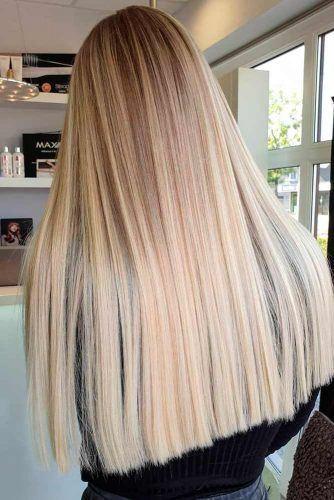 Long Straight Blonde Hair #straighthair #glossyhair