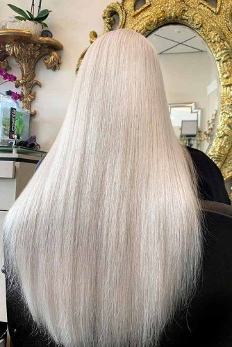Long Platinum Blonde Hair #sleekhair #prettyhair