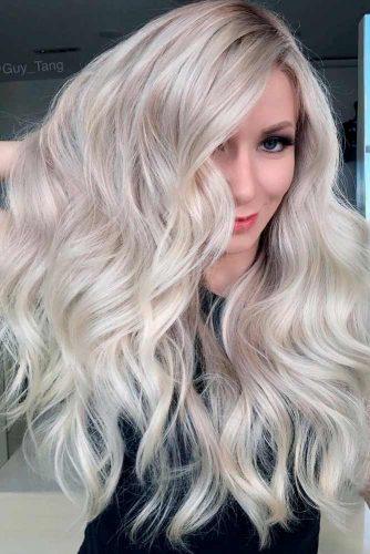 Stylish Looks Of Long Platinum Blonde Hair #longblondehair #wavyblondehair