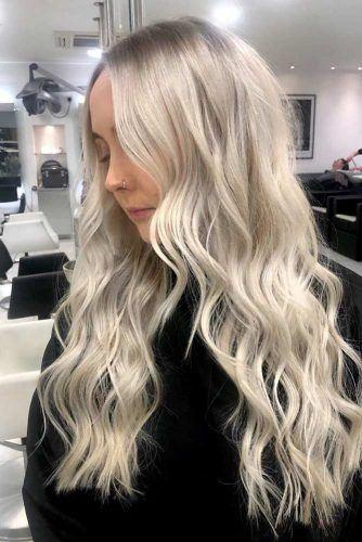 Long Wavy Blonde Hairstyle #longhair #blondehair