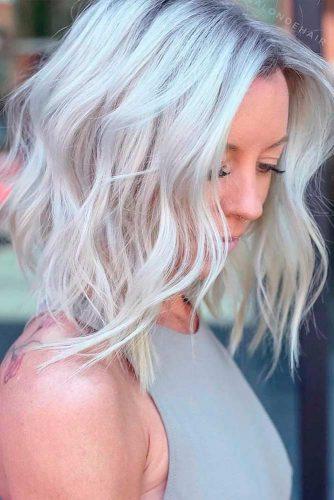 Ways To Take Care Of Your Platinum Blonde Lob #lobblondehairstyles #waveblondehair