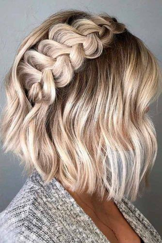 Side Braid Half-Up For Short Hair #shorthair #braidedhair