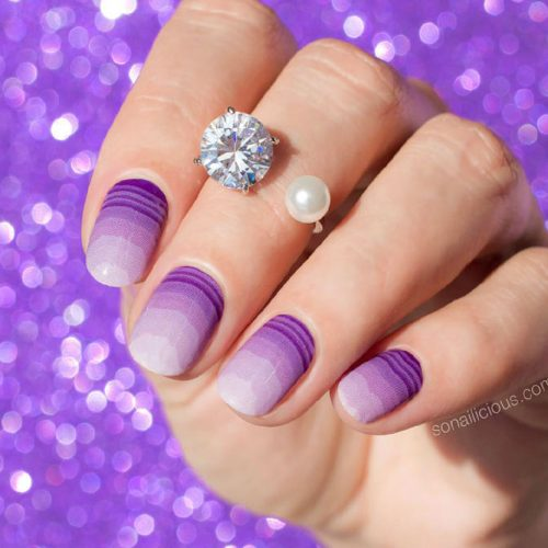 Trendy Purple Nail Designs With Ombre Picture 3