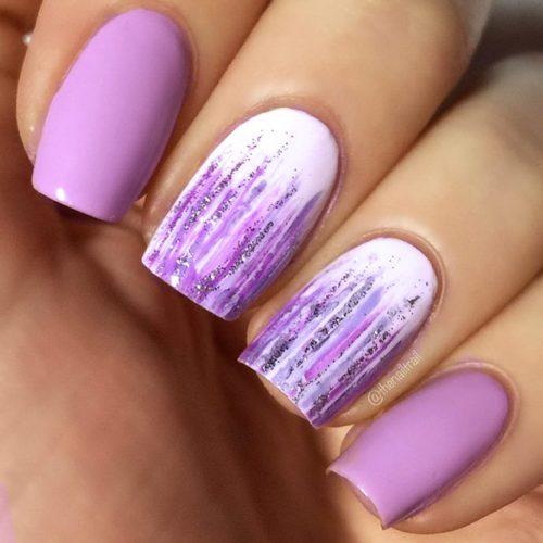 Beautiful Pastel Purple Nails Picture 2