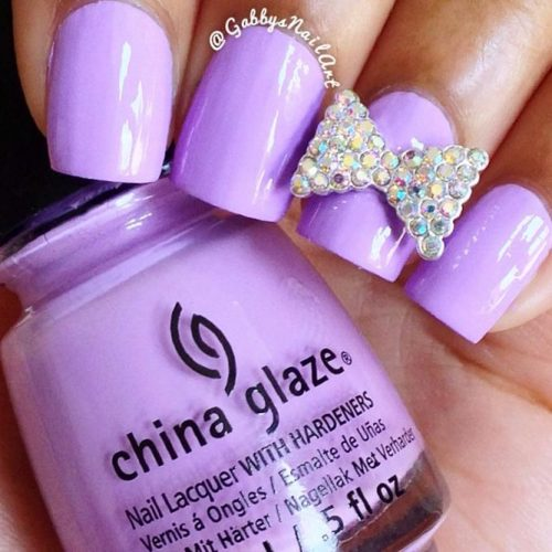 Beautiful Pastel Purple Nails Picture 3