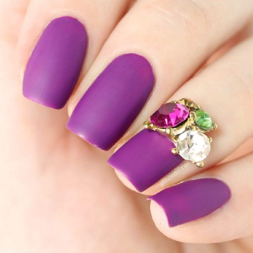Easy Purple Nail Designs Picture 3