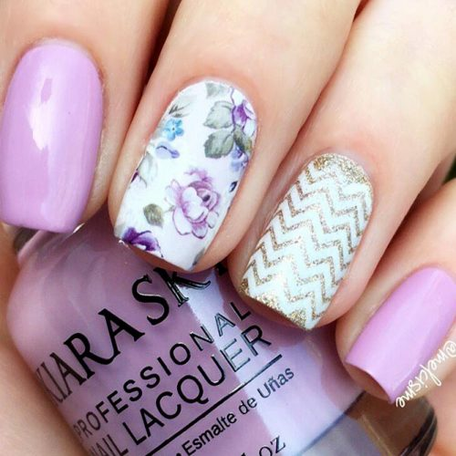 Floral Purple Nail Designs Picture 3