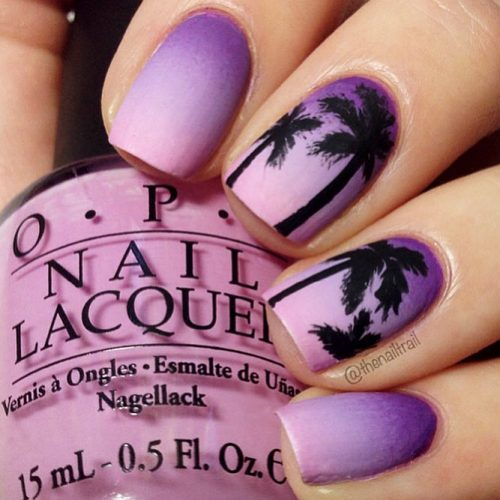 Trendy Purple Nail Designs With Ombre Picture 4