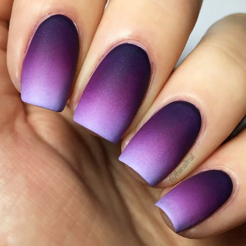 Trendy Purple Nail Designs With Ombre Picture 2