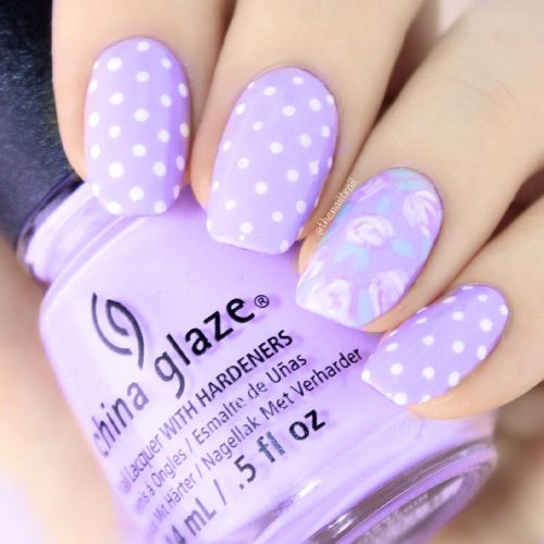 Floral Purple Nail Designs Picture 2