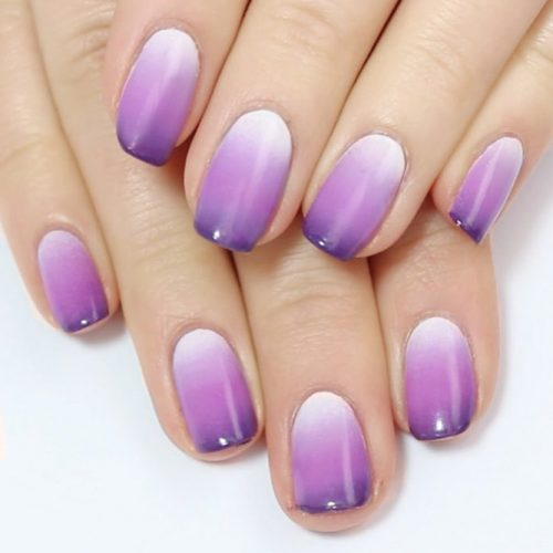 Trendy Purple Nail Designs With Ombre Picture 5