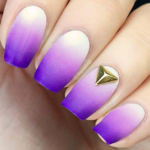 Trendy Purple Nail Designs With Ombre Picture 1
