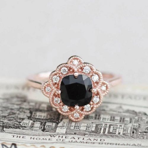 Rose Gold Ring With Black Diamond #rosegoldring
