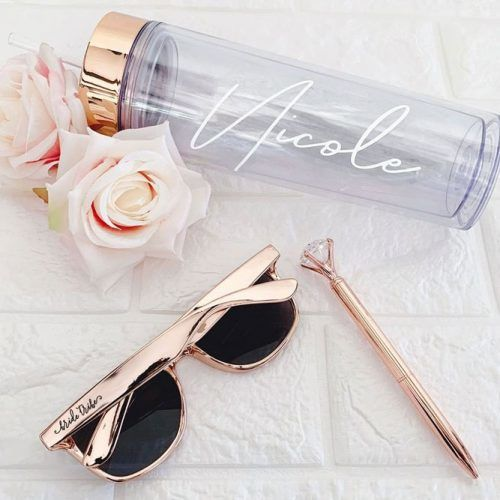 Rose Gold Accessories Ideas #sunglasses