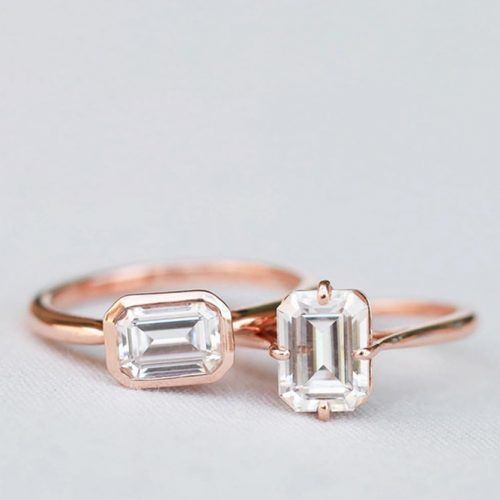 Emerald Rose Gold Rings #rosegoldjewelry