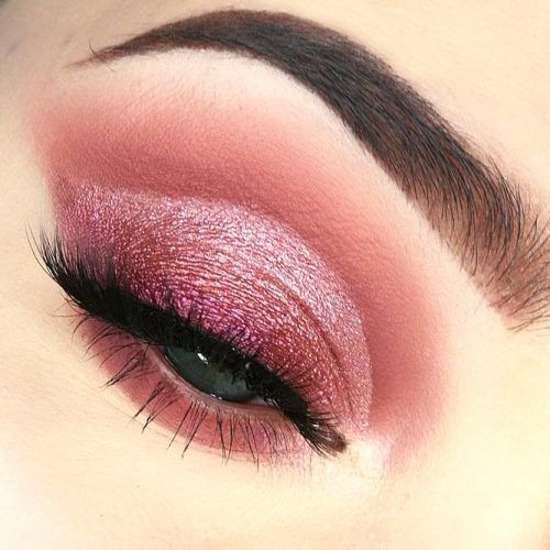 Rose Gold Eyes Makeup Idea #cutcrease