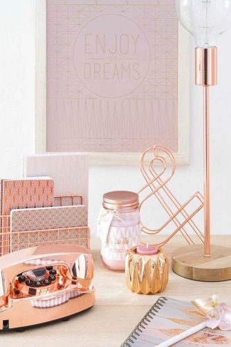 Rose Gold Color Ideas In Home Decor picture 1