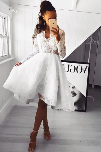 Cocktail White Dresses To Look Like A Princess picture 1