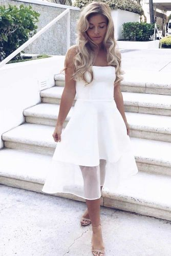 Midi White Dresses For Women picture 1