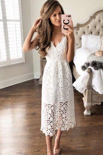 Midi White Dresses For Women picture 3