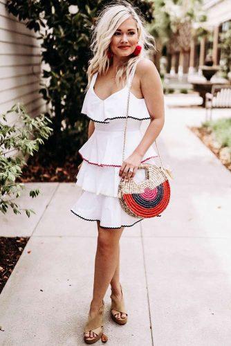 Summer Dress Design With Ruffles #dresswithruffles
