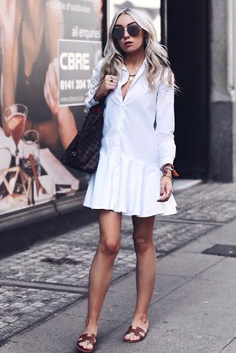 Summer White Dress With Sleeves #summerdress