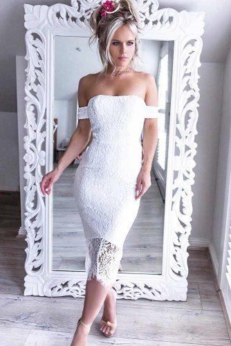 Midi White Dresses For Women picture 4