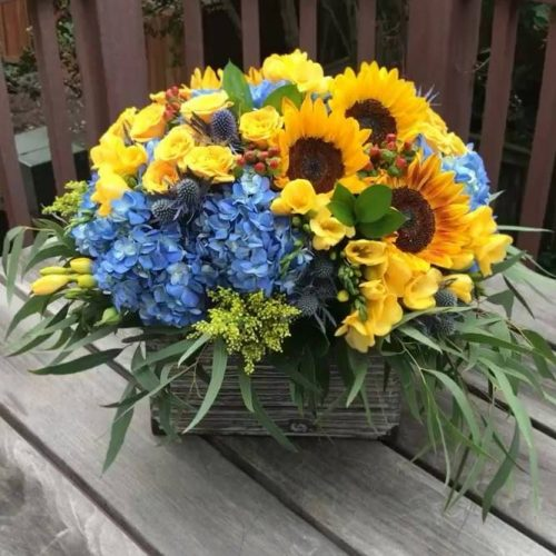 Funny Sunflowers For A Nice Day: Bouquet In A Basket #sunflower #nature #sunflowerbouquet #homedecor