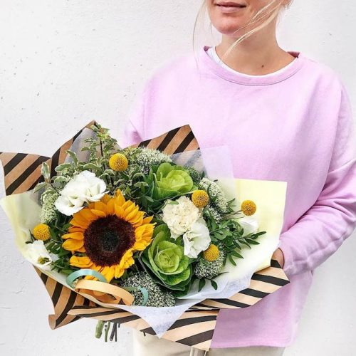 Funny Sunflowers For A Nice Day: Designer Bouquet #sunflower #nature #sunflowerbouquet