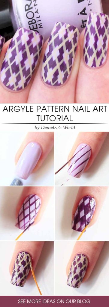 Argyle Purple Wonder Step By Step